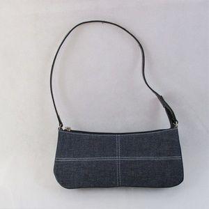 Mini Baguette Denim Handbag
